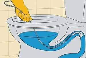 Ξεβούλωμα λεκάνης με σύρμα ή κρεμάστρα